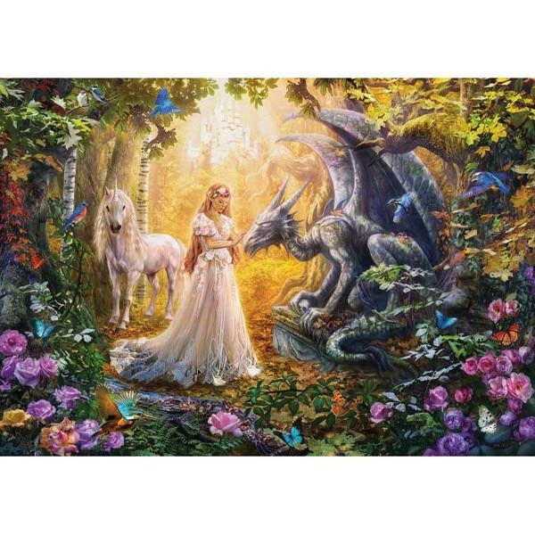 The Dragon the Princess and the Unicorn jigsaw puzzle