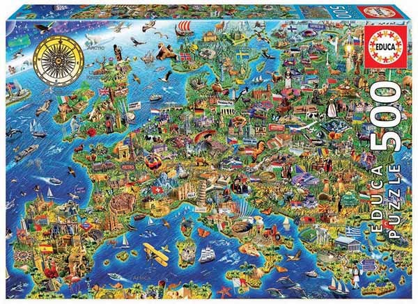 Crazy European Map - 500pc Jigsaw Puzzle from Jigsaw