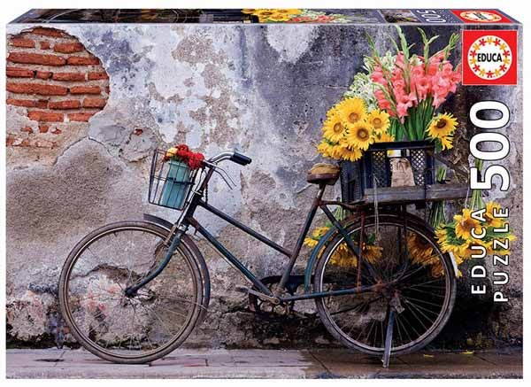 Bicycle With Flowers - 500pc jigsaw puzzle