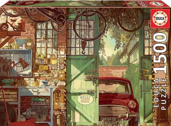 Old Garage - Arly Jones - 1500pc jigsaw puzzle