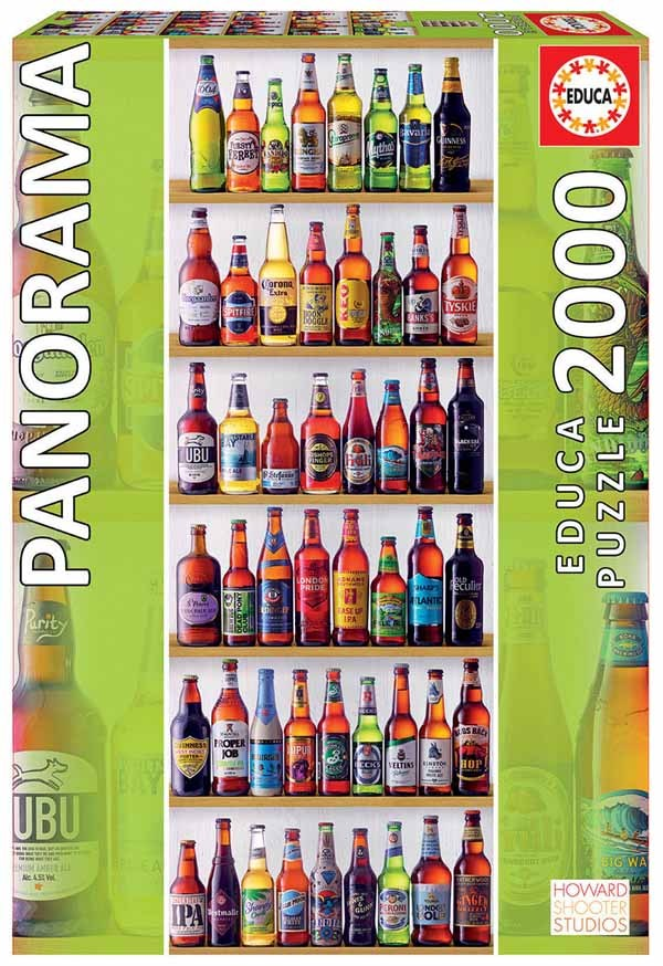 World Beers - Panoramic - 2000pc jigsaw puzzle