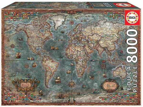 Historical World Map - 8000pc jigsaw puzzle