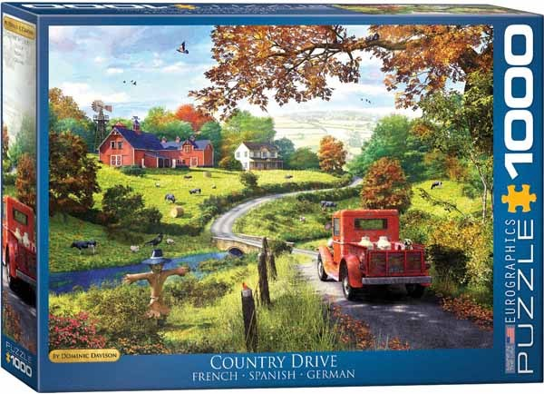 Country Drive - 1000 pieces jigsaw puzzle