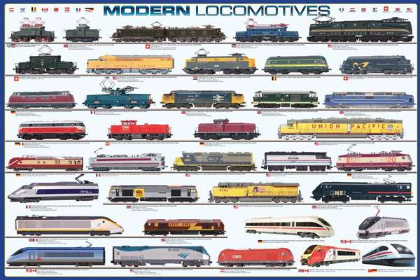 Modern Locamotives jigsaw puzzle