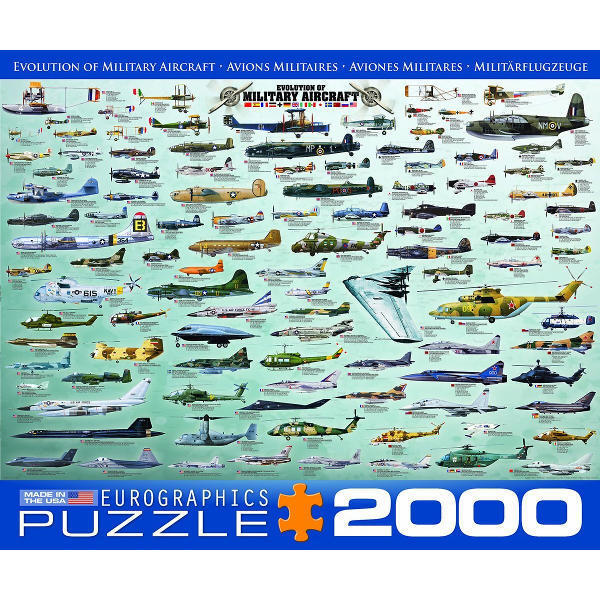 Evolution of Military Aircraft - 2000pc jigsaw puzzle