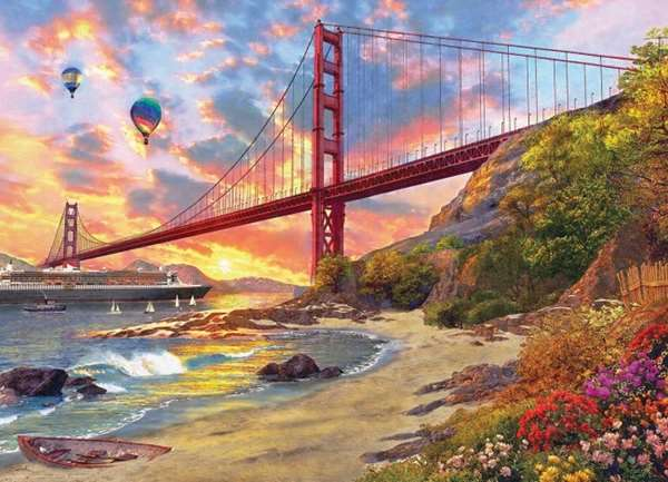 Baker Beach - 1000pc jigsaw puzzle