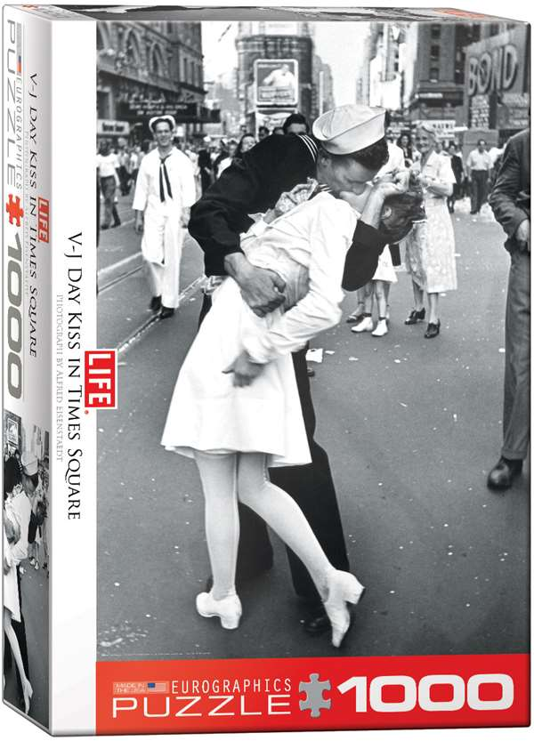 LIFE Magazine - Kissing on VJ Day jigsaw puzzle