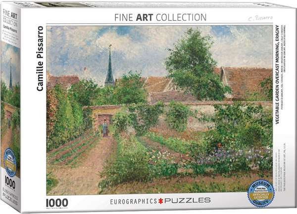 Vegetable Garden Overcast Morning - Camille Pissarro jigsaw puzzle