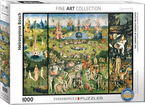 The Garden of Earthly Delights - 1000pc jigsaw puzzle