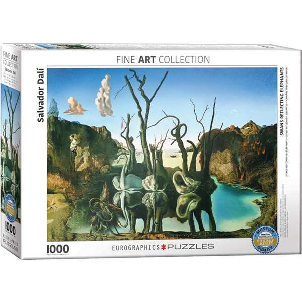 Swans Reflecting Elephants - Salvador Dali - 1000pc jigsaw puzzle