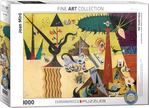 The Tilled Field - Joan Miro - 1000pc jigsaw puzzle
