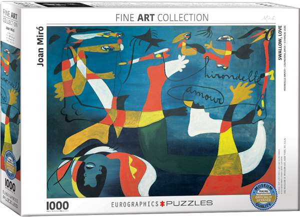 Swallow Love - Joan Miro - 1000pc jigsaw puzzle