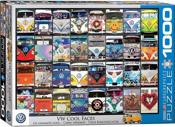 VW Cool Faces - 1000pc jigsaw puzzle