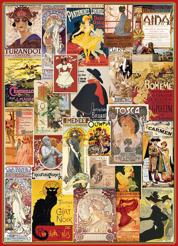 Vintage Theatre Collage - 1000pc jigsaw puzzle