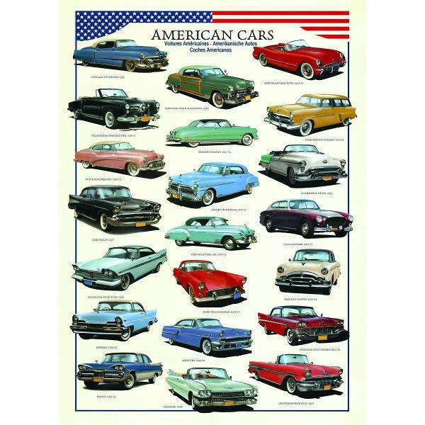 American Cars - 1000pc jigsaw puzzle