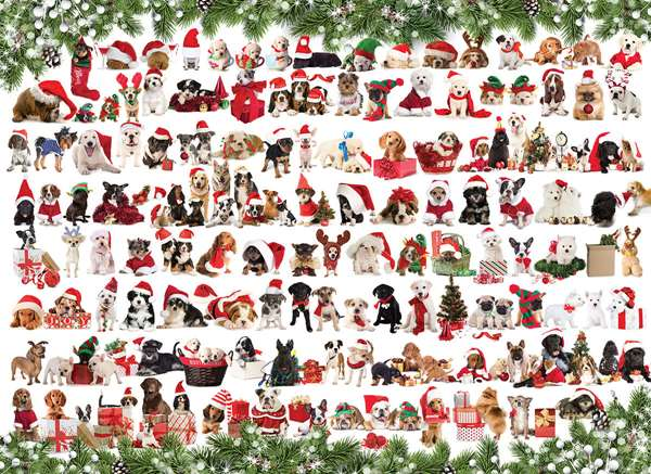 Christmas Puppies - 1000pc jigsaw puzzle