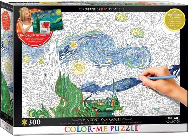 Starry Night - Colour-Me Puzzle - 300pc jigsaw puzzle