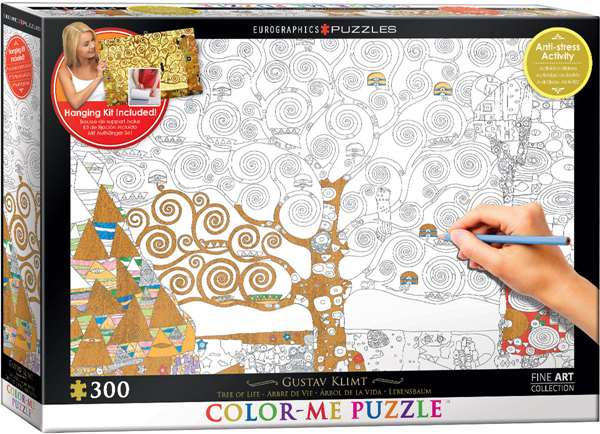Tree of Life - Colour-Me Puzzle - 300pc jigsaw puzzle