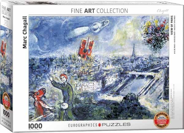 Marc Chagall - View of Paris - 1000pc jigsaw puzzle