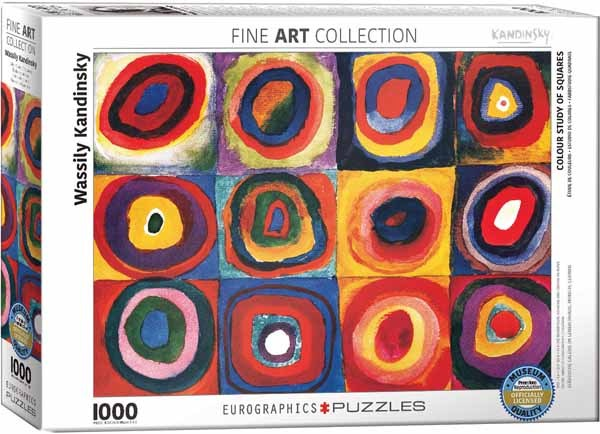 Wassily Kandinsky - Colour Study of Squares - 1000pc jigsaw puzzle