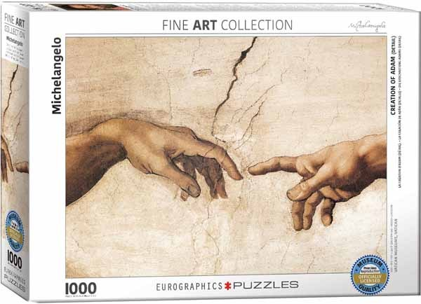 Michelangelo - The Creation of Adam Detail - 1000pc jigsaw puzzle