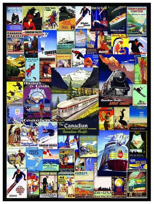 Canadian Pacific - Railroad Adventures - 1000pc jigsaw puzzle