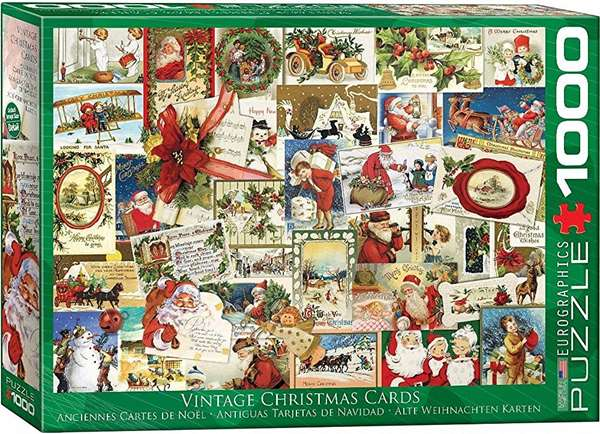 Vintage Christmas Cards - 1000pc jigsaw puzzle