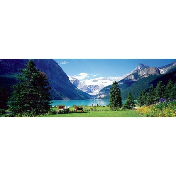 Lake Louise - Panoramic - 1000pc jigsaw puzzle