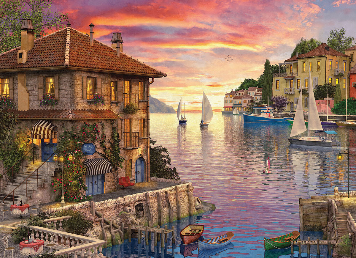 The Mediterranean Harbour - 1000pc jigsaw puzzle