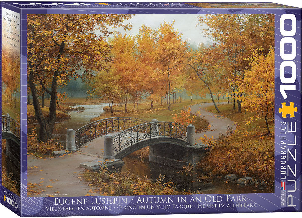 Autumn in an Old Park - 1000pc jigsaw puzzle