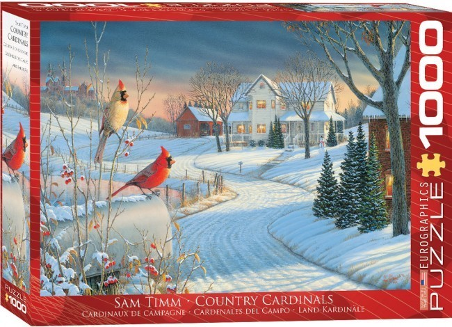 Country Cardinals - 1000pc jigsaw puzzle