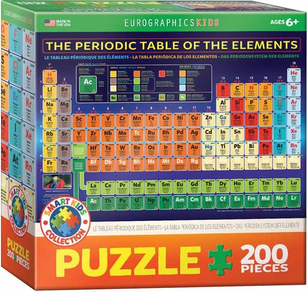The Periodic Table of the Elements - 200pc jigsaw puzzle
