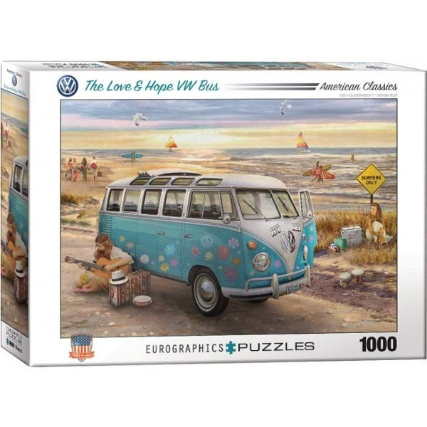 The Love and Hope VW Bus - 1000pc jigsaw puzzle