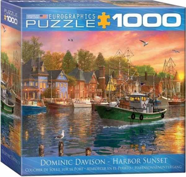 Harbour Sunset - 1000pc Spacesaver Box jigsaw puzzle