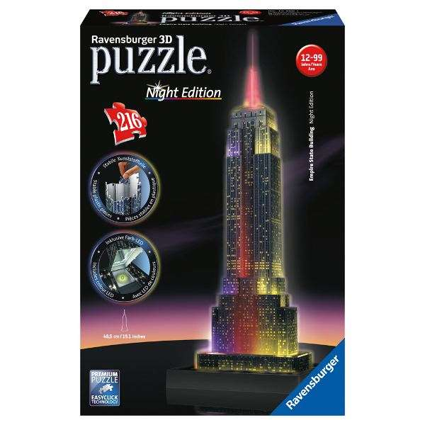 Empire State Night Edition - 3D Puzzle Building jigsaw puzzle