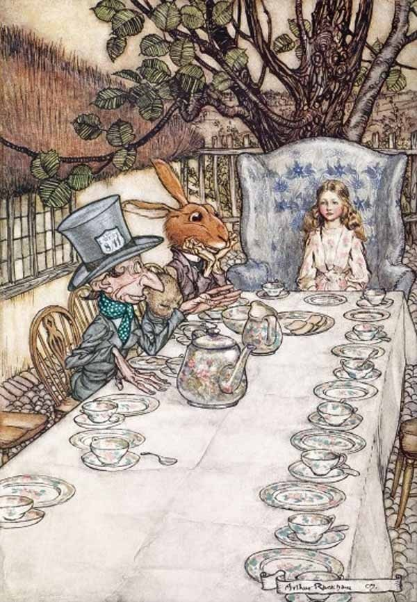 Arthur Rackham - Alice in Wonderland Tea Party - 1000pc jigsaw puzzle