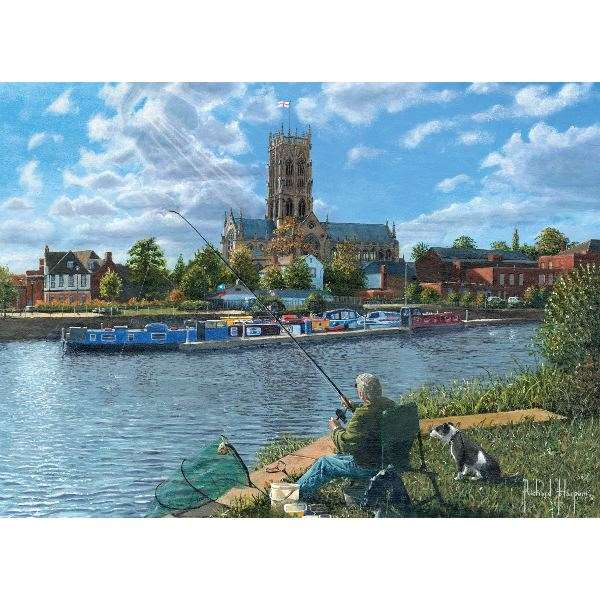 Fishing With Oscar - 1000pc jigsaw puzzle