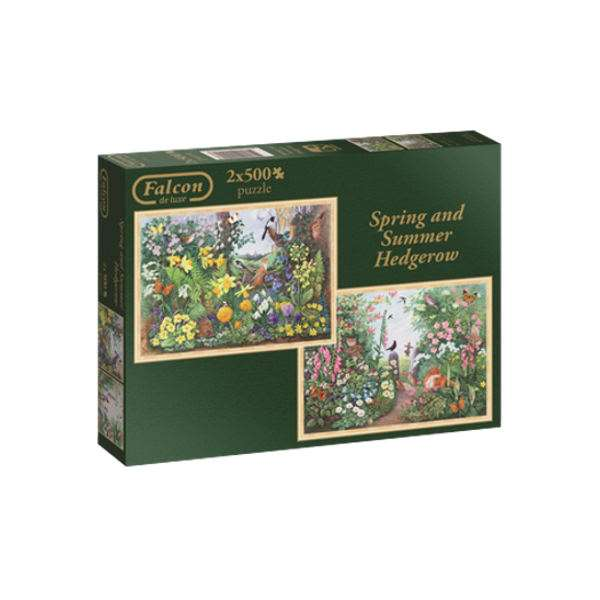 Spring and Summer Hedgerow - 2 x 500pc jigsaw puzzle