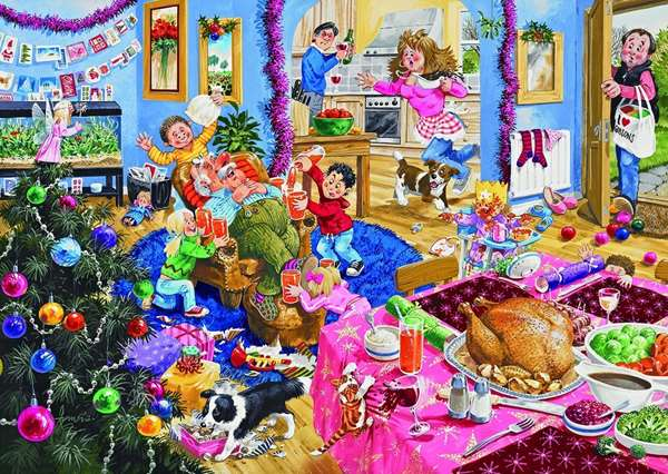 Christmas with grandad jigsaw puzzle from jigsaw puzzles direct