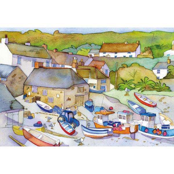 The Fishing Village - 500pc jigsaw puzzle