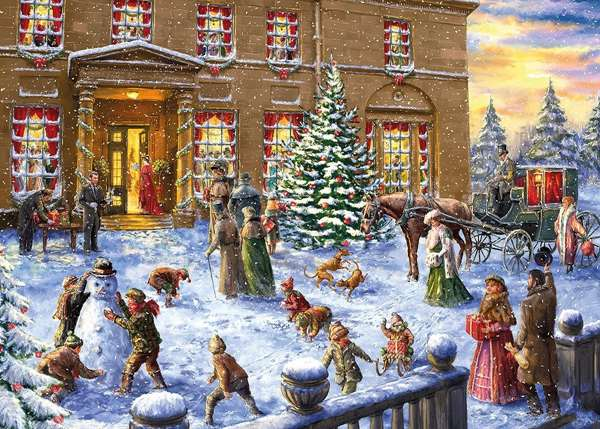 Christmas At The Hall - 500 Piece XL Jigsaw Puzzle from Jigsaw Puzzles ...