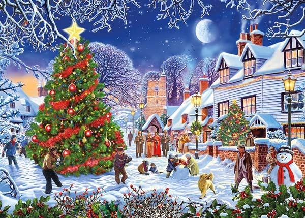 The Village Christmas Tree - 500XL jigsaw puzzle