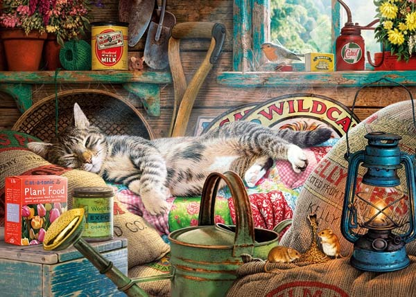 Snoozing in the Shed - 500XLpc jigsaw puzzle
