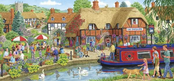 Lunch At The Swan - 636pc jigsaw puzzle