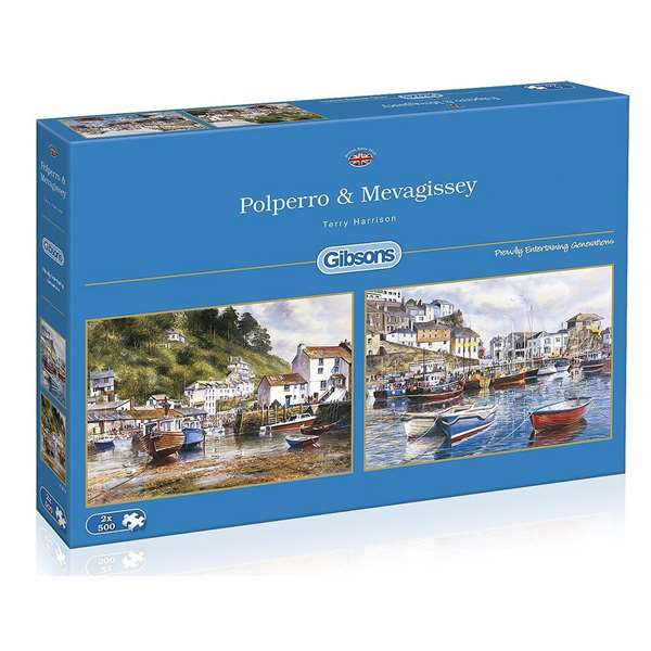 Polperro And Mevagissy - 2 x 500 Piece jigsaw puzzle