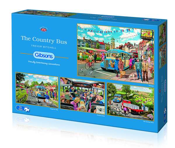 The Country Bus - 4 x 500pc jigsaw puzzle