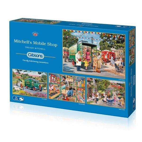 Mitchells Mobile Shop - 4 x 500pc jigsaw puzzle