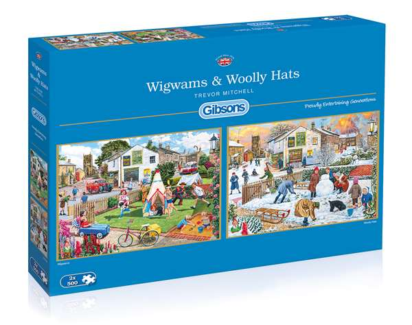 Wigwams and Woolly Hats - 2 x 500pc jigsaw puzzle