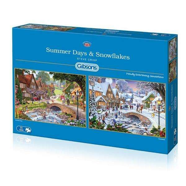 Summer Days and Snowflakes - 2 x 500pc jigsaw puzzle