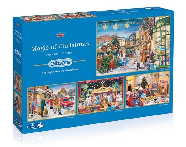 Magic of Christmas - 4 x 500pc jigsaw puzzle
